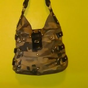 B Makowsky Camo print Leather Tote